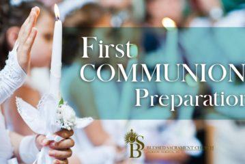 First Communion - Preparation