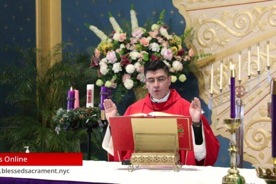 Mass Online   November 30th 2020   Rev. Cesar Peña