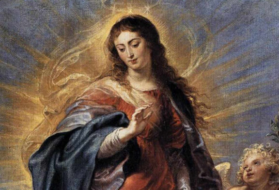 Immaculate Conception of the Blessed Virgin Mary     Saint of the Day for December 8th
